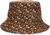 Burberry Monogram Nylon Bucket Hat in Bridle Brown | FWRD