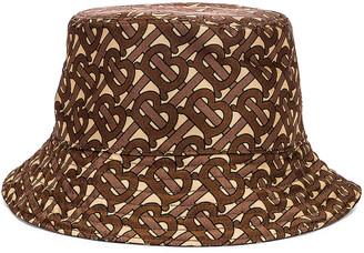 Burberry Monogram Nylon Bucket Hat in Bridle Brown | FWRD