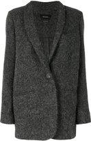 Isabel Marant single button felt jacket - women - Virgin Wool/Alpaca/Viscose - 36