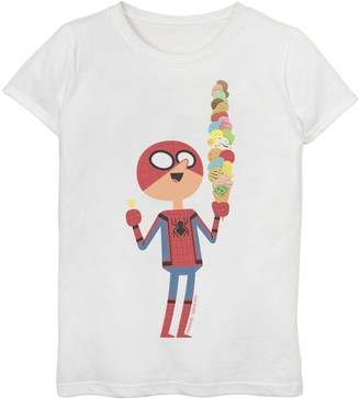 Marvel Girls 7-16 Spider-Man Far From Home Ice Cream Cone Graphic Tee