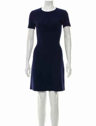 Alaia Wool-Blend Mini Dress Blue