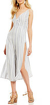 GB Striped Culotte Jumpsuit