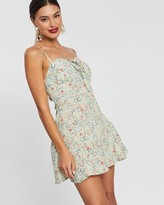 boohoo Woven Cupped Strappy Ruffle Floral Dress