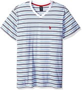 U.S. Polo Assn. Men's Short Sleeve Striped V-Neck Classic Fit T-Shirt