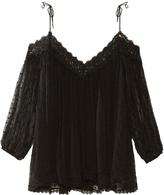 Zimmermann Realm polka-dot embroidered silk-georgette top
