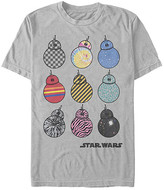 Fifth Sun Tee Shirts SILVER - Star Wars Silver Patterned BB-8 Tee - Adult
