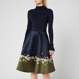 Ted Baker Women's Lotis Pearl Printed Full Skirted Dress