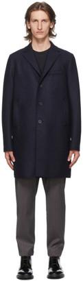 Harris Wharf London Navy Pressed Boxy Coat