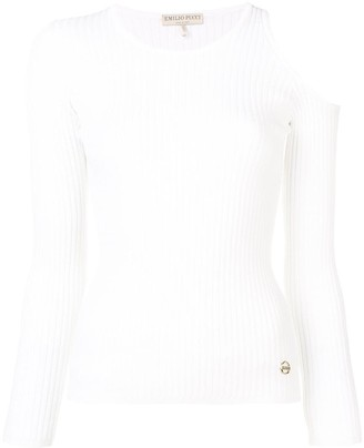 Emilio Pucci Cut-Out One Shoulder Top