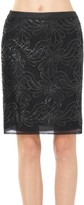 Max Studio Skirt With Floral Pailettes