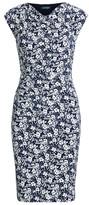 Ralph Lauren Floral Jersey Cowlneck Dress