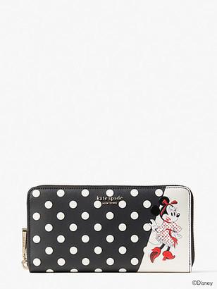 Kate Spade Disney X Minnie Mouse Zip Around Continental Wallet