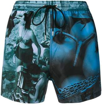 Paul Smith photo print swimming trunks