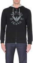 Armani Jeans Logo zip-through hoody