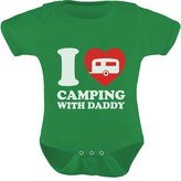 TeeStars - I Love Camping With Daddy Bodysuit Father's Day Gift Baby Onesie