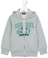 Diesel logo print hoodie - kids - Cotton - 2 yrs