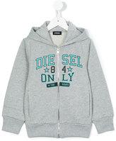 Diesel logo print hoodie - kids - Cotton - 3 yrs