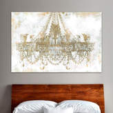 Oliver Gal 'Gold Diamonds Faded Chandelier' Graphic Art Print on Wrapped Canvas