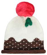 George Fleece Lined Knitted Christmas Pudding Bobble Hat