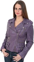 A1 FASHION GOODS Womens fitted real leather jacket most popular biker style coat- Beyonce