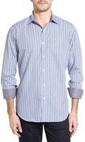 Bugatchi Men's Classic Fit Optic Print Sport Shirt