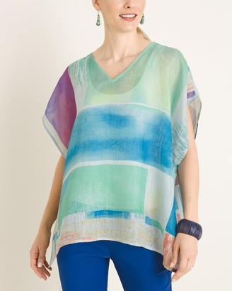 Chico's Abstract-Print Poncho