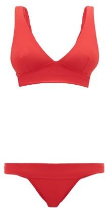 Haight V-neck Bikini - Womens - Red