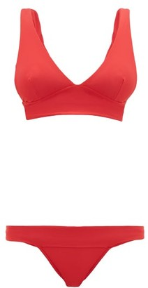 Haight V-neck Jersey Bikini - Womens - Red