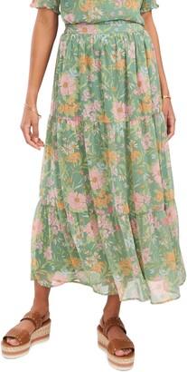 Vince Camuto Verona Garden Tiered Ruffle Skirt
