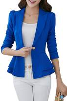 YMING for Women Classic One Button Long Sleeve Blazer L