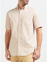 Gant Rugger Micro Stripe Short Sleeve Shirt, Cream