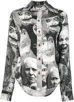 Vivienne Westwood face print blouse - women - Viscose - 38