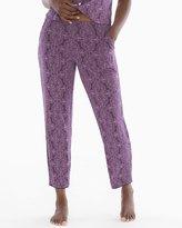 Soma Intimates Satin Trim Pajama Ankle Pant Imperial Nightshade