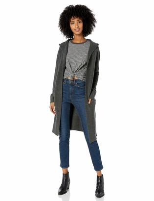 Goodthreads Amazon Brand Women's Mid-Gauge Stretch Hooded No-Closure Sweater