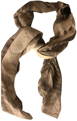 Fendi White Silk Scarves