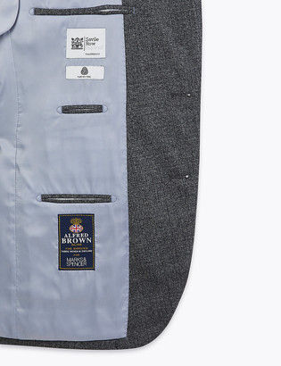 Marks and Spencer Charcoal Tailored Fit Wool Jacket