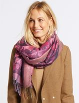 Marks and Spencer Floral Jacquard Scarf