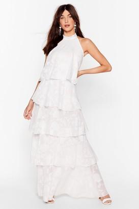 Nasty Gal Womens Shake and Shimmy Layered Maxi Dress - White - S