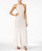Jump Juniors' Sequin Lace Beaded-Back Gown