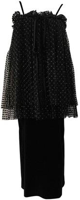 Isa Arfen Black Cotton Dresses