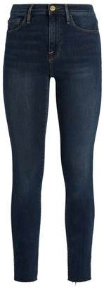 Frame Le Skinny De Jeane Rivet Detail Jeans