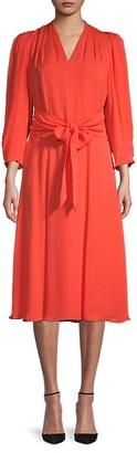 Kobi Halperin Silk Pleated Bodice dress