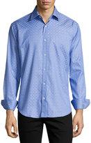 Bugatchi Scroll-Print Sport Shirt, Classic Blue