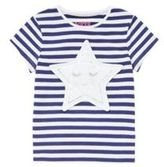 F&F Applique Star Striped T-Shirt, Toddler Girl's