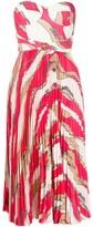 Elisabetta Franchi bandeau striped dress