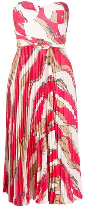 Elisabetta Franchi Bandeau Striped Dress