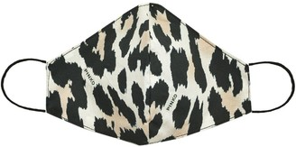 Pinko Leopard Print Face Mask