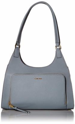 Calvin Klein Ava Saffiano Leather Triple Compartment Hobo Shoulder Bag
