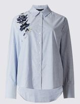 Marks and Spencer Pure Cotton Embroidered Shirt