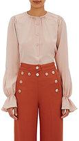 Derek Lam Women's Shirred Blouse-LIGHT PINK, PINK